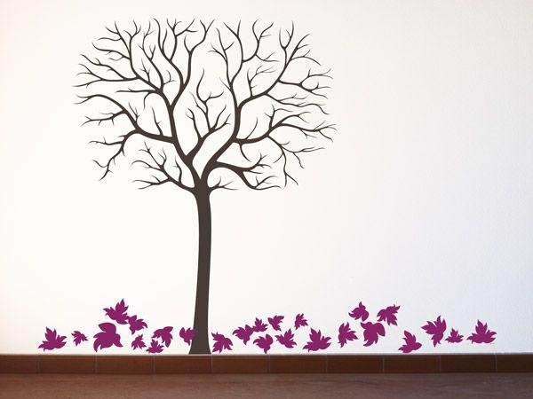 Baum bunte ideen f r die wand wandtattoo b ume tipps for Farben in der wohnung und ihre wirkung