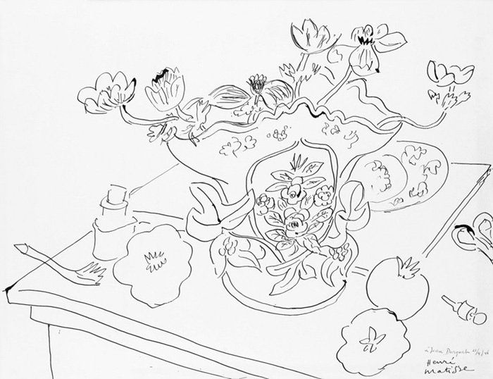 Matisse Contour Line Drawing : Plant drawings by henri matisse pinterest