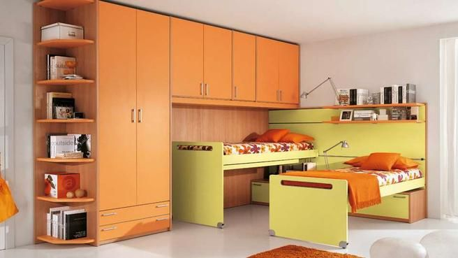 Beautiful Photo Chambre Orange Et Vert Ideas - Amazing House ...