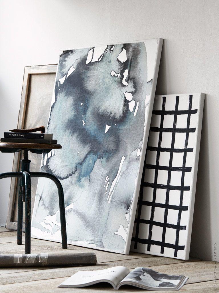 Diy Textil Konst Ikea Livet Hemma Inspirerande Inredning For Hemmet Fabric Wall Art Ikea Fabric Ikea Art
