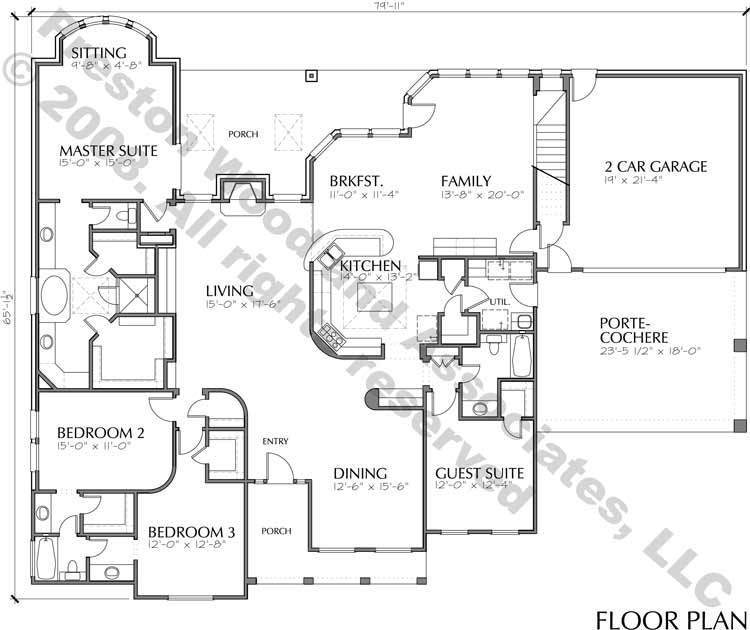 One Story Home Plan C5237 House Plans One Story Homes House Floor Plans