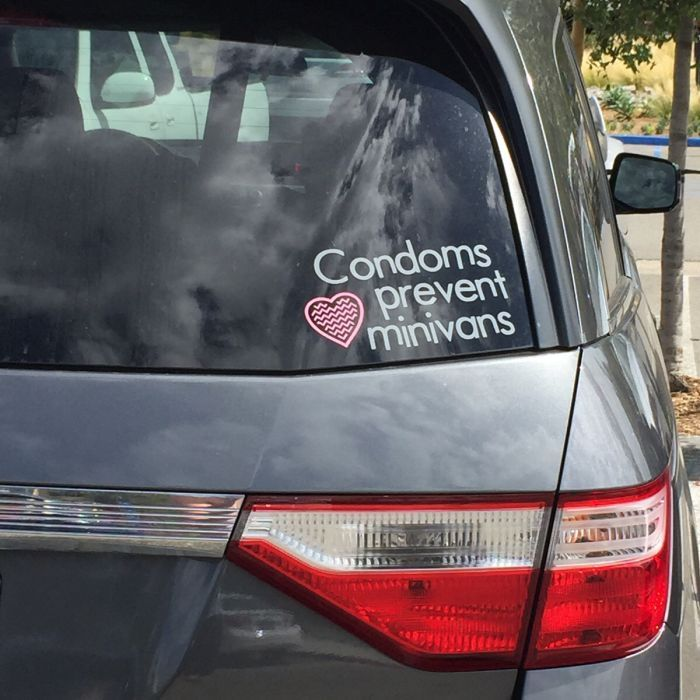03be4c49f8cfdd6e96632d94133bd62c this sticker on a minivan even more perfect meme collection