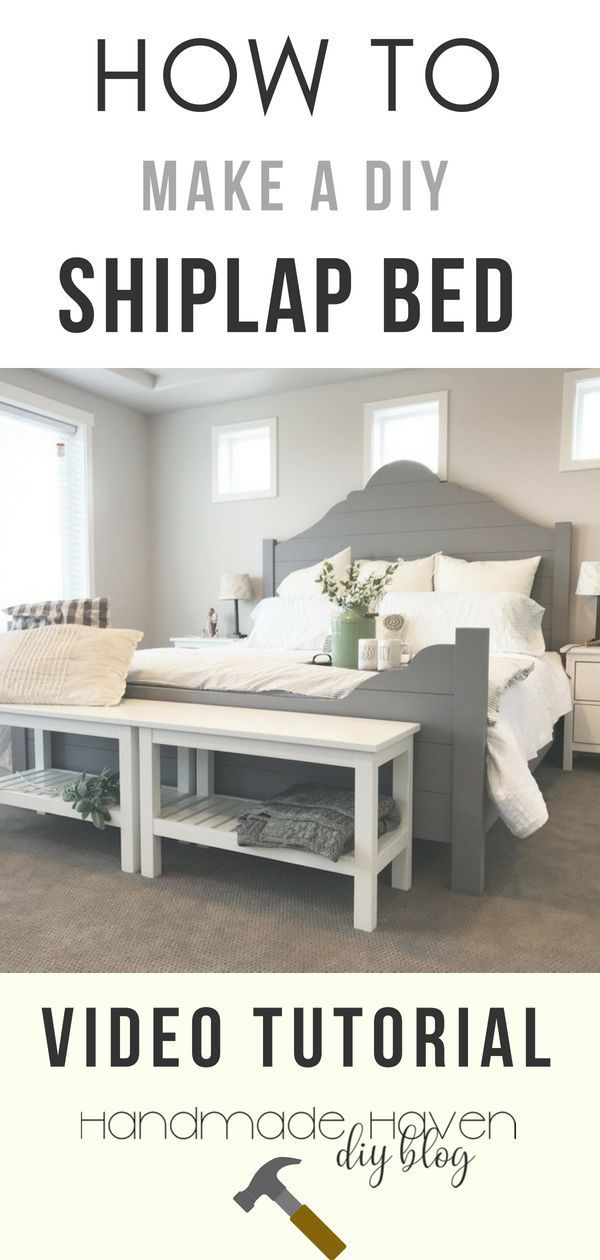 Diy Shiplap Bed Frame With Images Diy Shiplap Woodworking