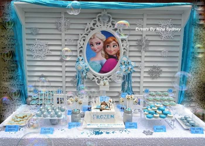Superb Frozen Themed Decoration Ideas Part - 4: Frozen Princess Themed Birthday Party Full Of Really Cute Ideas Via Karau0027s Party  Ideas! Full
