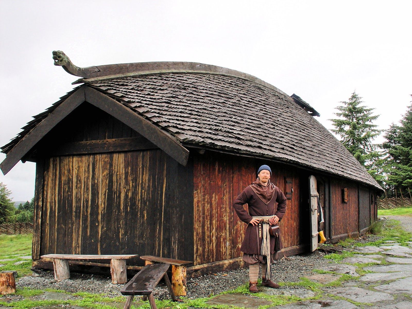 Viking Longhouse Replica Well A Smaller Type Of