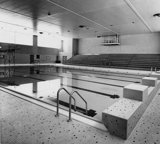Pool at korb student center shaw high school cleveland press collection 1960 eastcleveland for Cleveland high school swimming pool