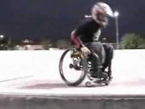 crazy wheelchair stunts