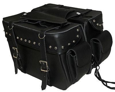 Large Size Throw Over Saddle Bag w// Braid /& Studs Will Fit Most Any Motorcycle