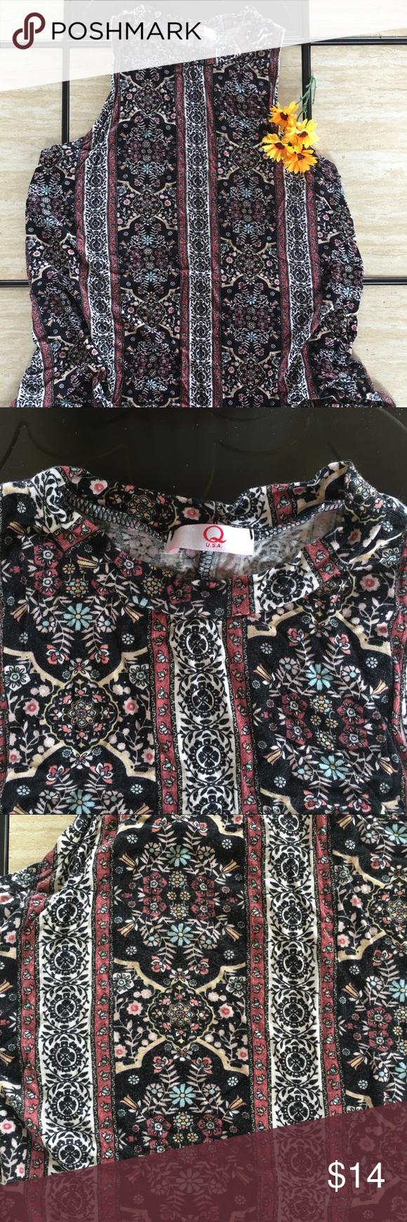 Fashion Q printed floral swing dress