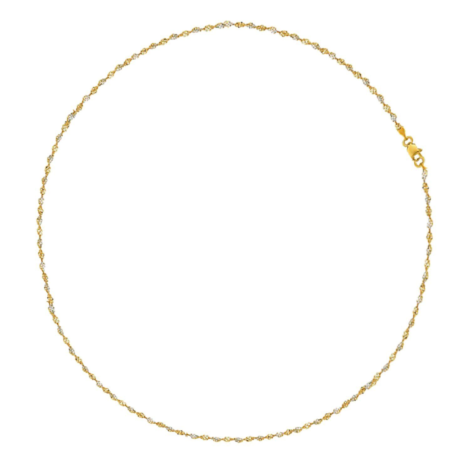 anklet gold mondier white zirconia jewelry round with cubic yellow jewellery
