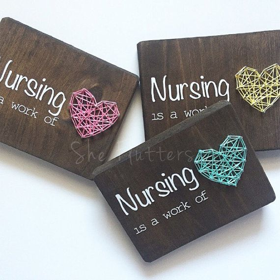 Nursing Is A Work Of Heart Nurses Nurse Gift String By Sheflutters