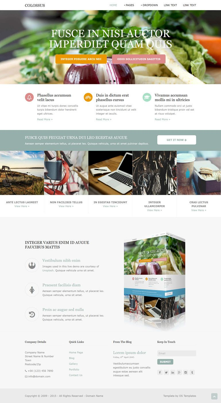 Free Colossus Responsive HTML5 Website Template Website