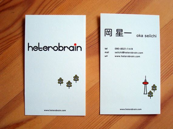 Heterobrain Business Card Design Minimal Business Card Design Minimal Business Card