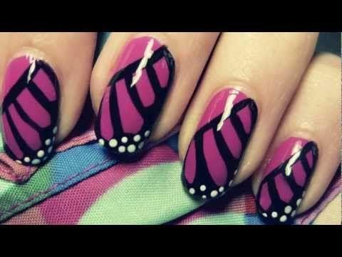 Monarch Butterfly Wing Nail Art Tutorial ♥