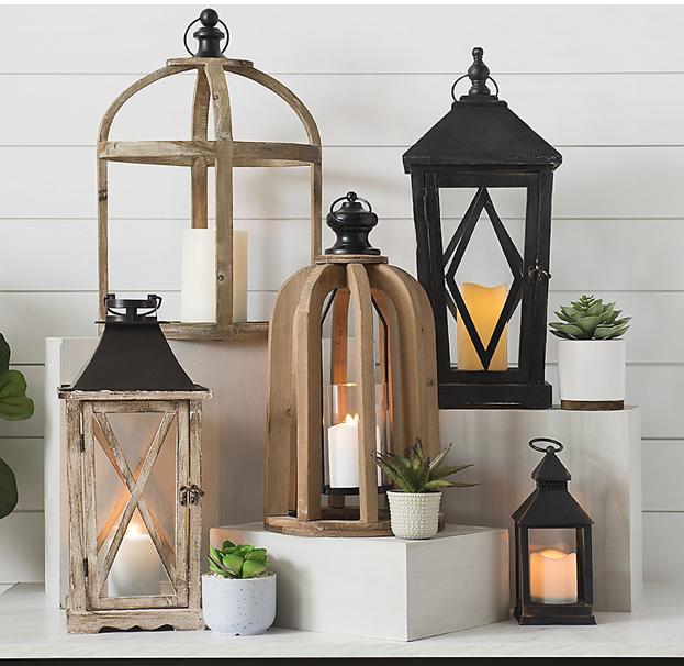 Lanterns at Kirklands! :) | Candle lanterns, Wooden ... on Lanterns At Kirklands id=72367
