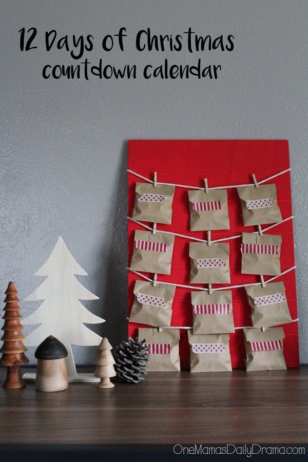 Diy 12 Days Of Christmas Countdown Calendar Scandinavian Yule Craft Christmas Countdown Calendar Christmas Countdown Diy Christmas Countdown