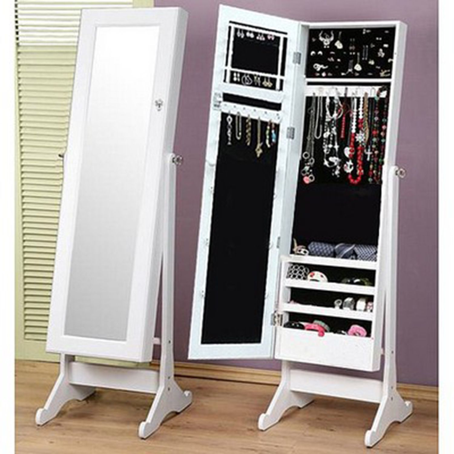 Buy Dress Mirror With Jewellery Storage Mirrors The