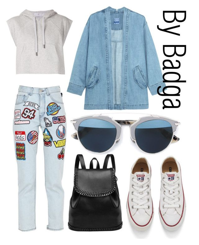 """""""OMG!"""" by badga ❤ liked on Polyvore featuring Steve J & Yoni P, GCDS, adidas, Converse and Christian Dior"""