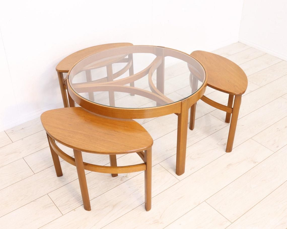Mid Century Nathan Trinity Round Glass Retro Teak Coffee Table Nest Of Tables 1960 S Currently Bei Coffee Table Teak Coffee Table Table [ jpg ]