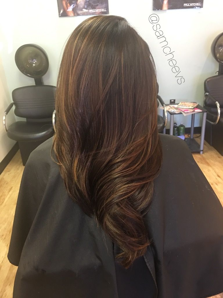 Rich Chocolate Chestnut Brown With Golden Honey Caramel Highlights