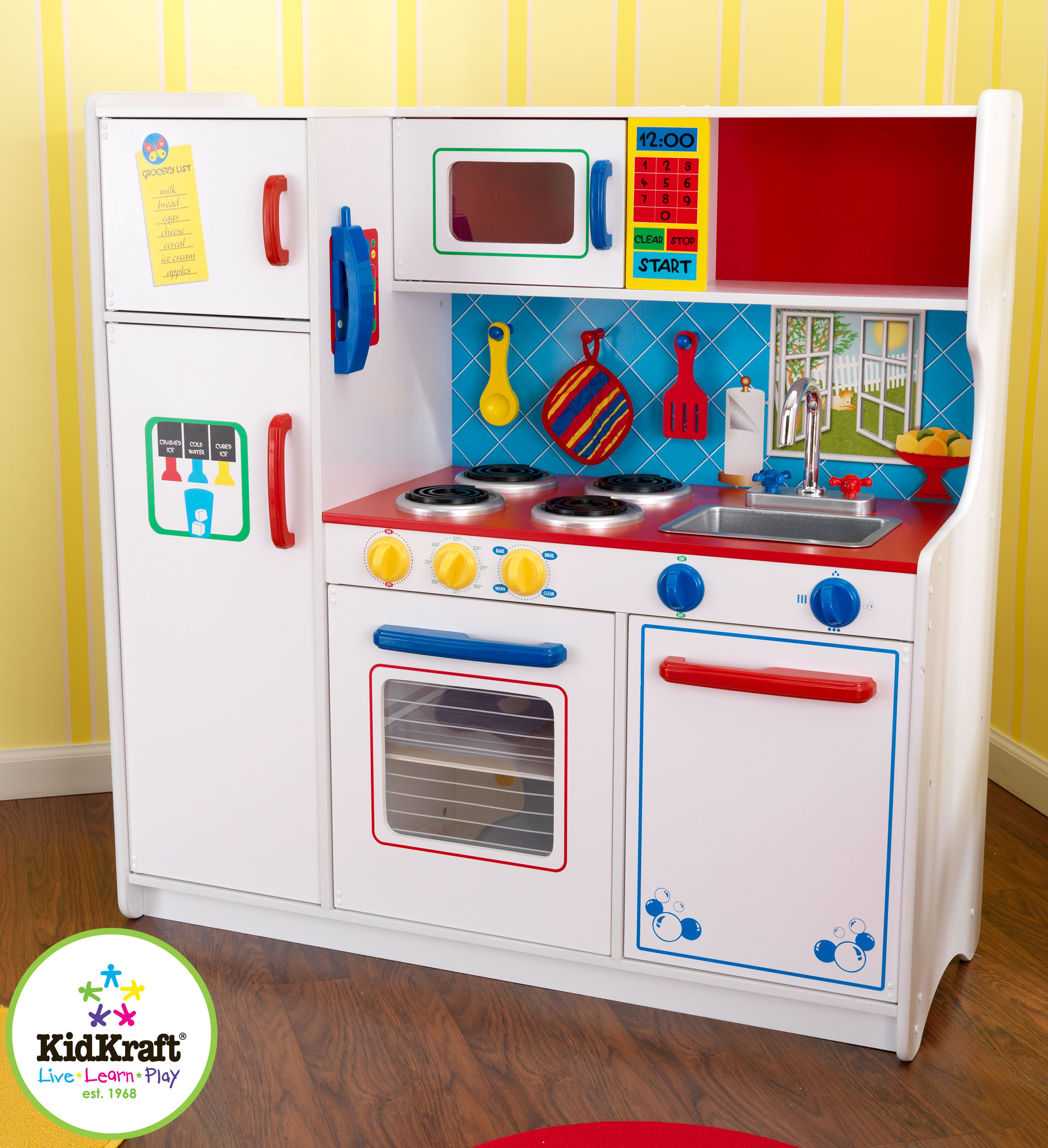 Kids Kitchen Set - Kidkraft Deluxe Cooking Kitchen | Kitchen ...
