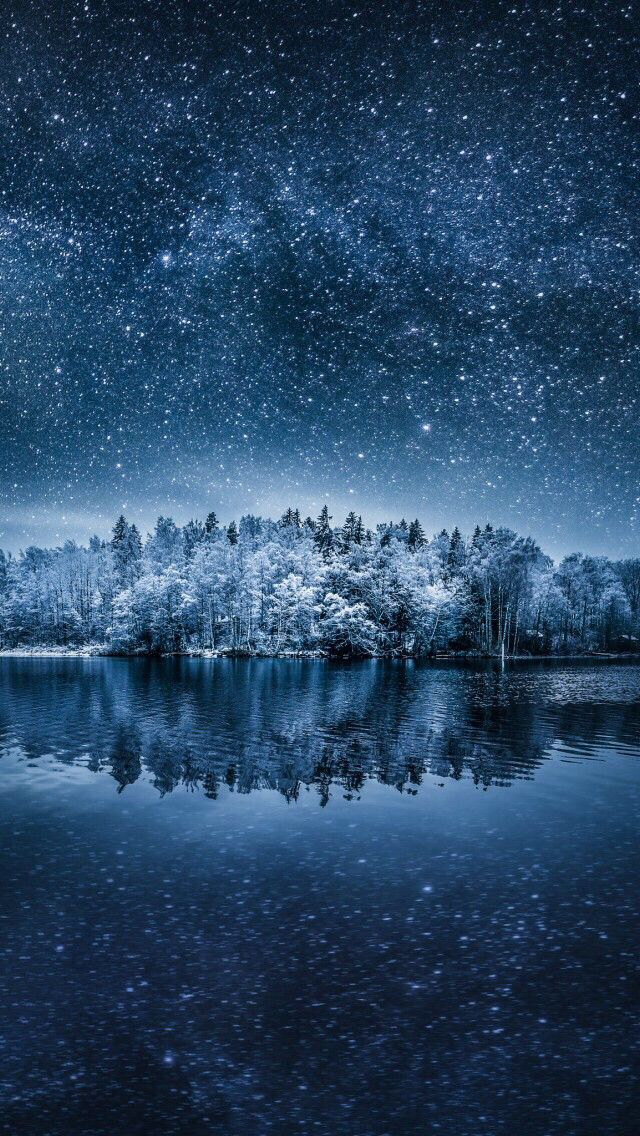 Wallpaper Iphone Nature Winter Wonderful Sky Blue Calming