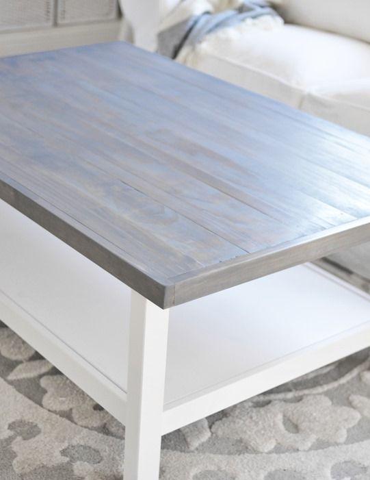 Weathered Gray Coffee Table Redo Furniture Ikea Coffee Table