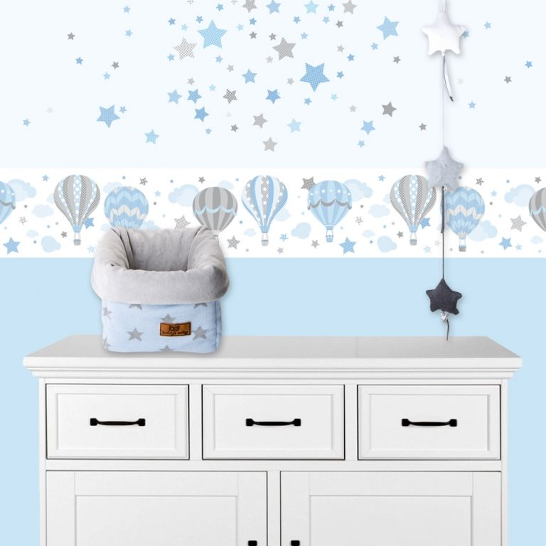 Kinderzimmer Wandsticker Sterne blau\/grau 68-teilig Sterne, M\ - babyzimmer sterne photo