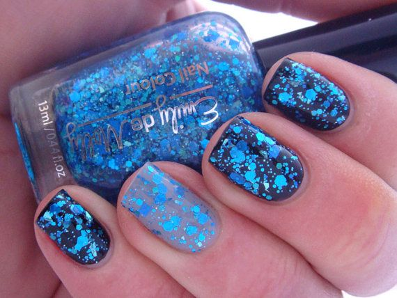Glitter nail polish - \