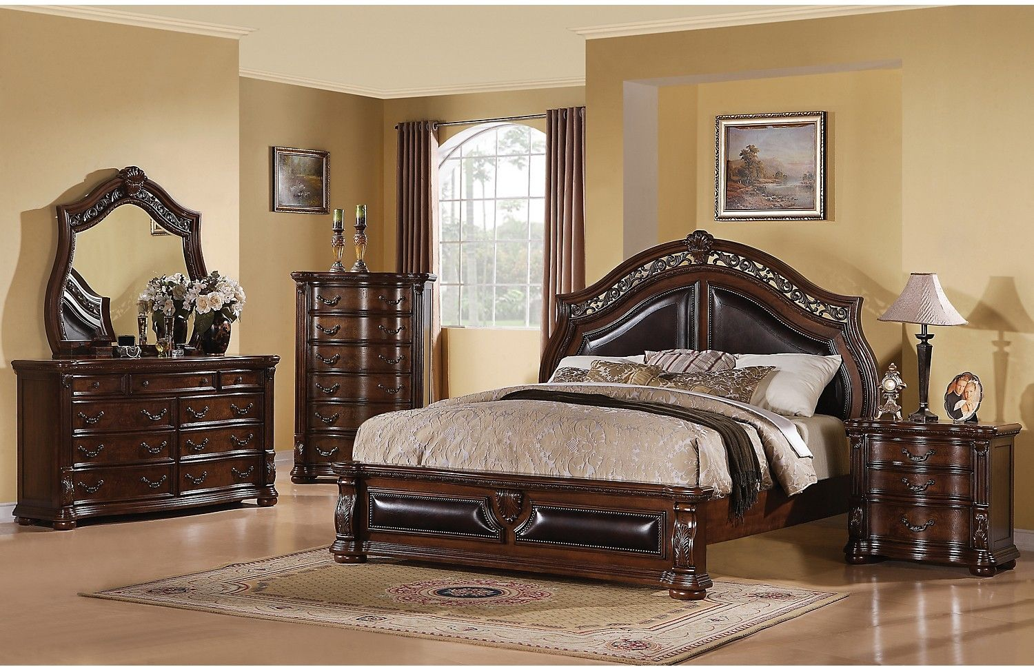 Morocco 8-Piece Queen Bedroom Package | Upholstered bedroom ...