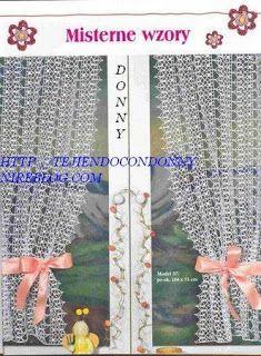 Tejidos a crochet ganchillo patrones cortina para for Gancho para cortina
