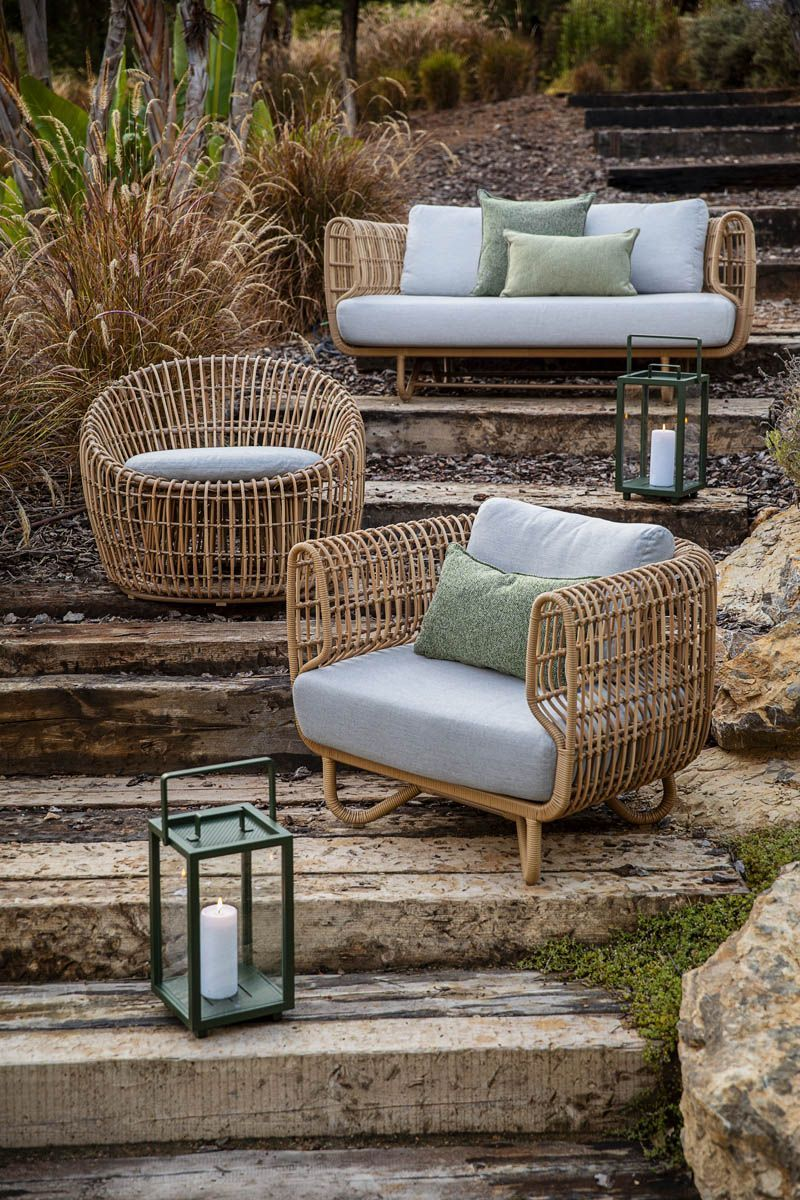 Relax and feel close to nature in the Nest outdoor furniture in