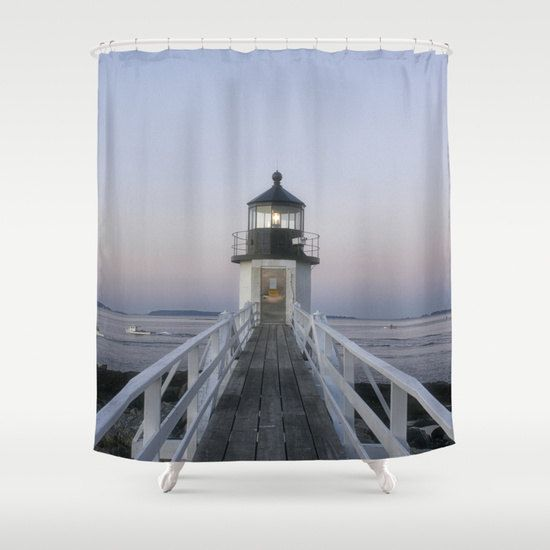 Marshall Point Lighthouse Shower Curtain Shower Curtain