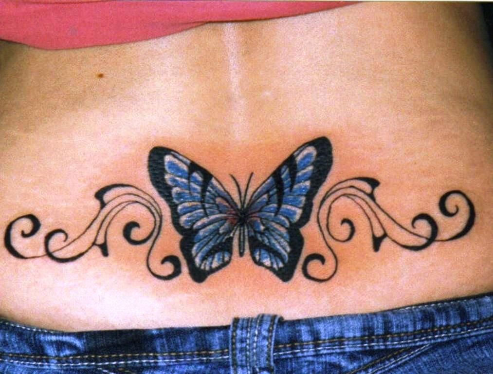 Beautiful Butterfly Back Tattoos Butterfly Lower Back Tattoos