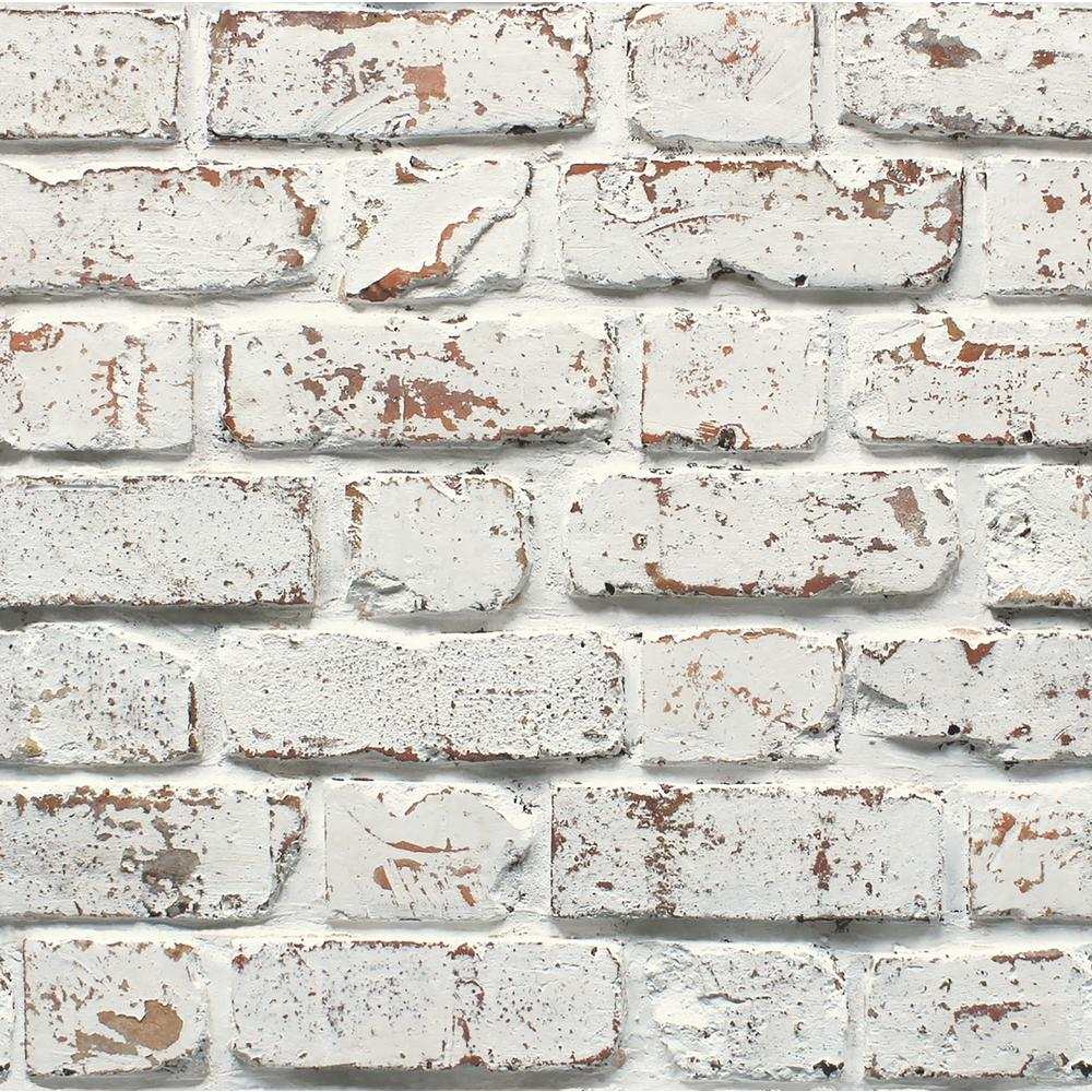 Fine Decor Bricks Paper Strippable Roll Covers 56 4 Sq Ft 2900 42032 The Home Depot Brick Effect Wallpaper Brick Wallpaper White Brick Wallpaper