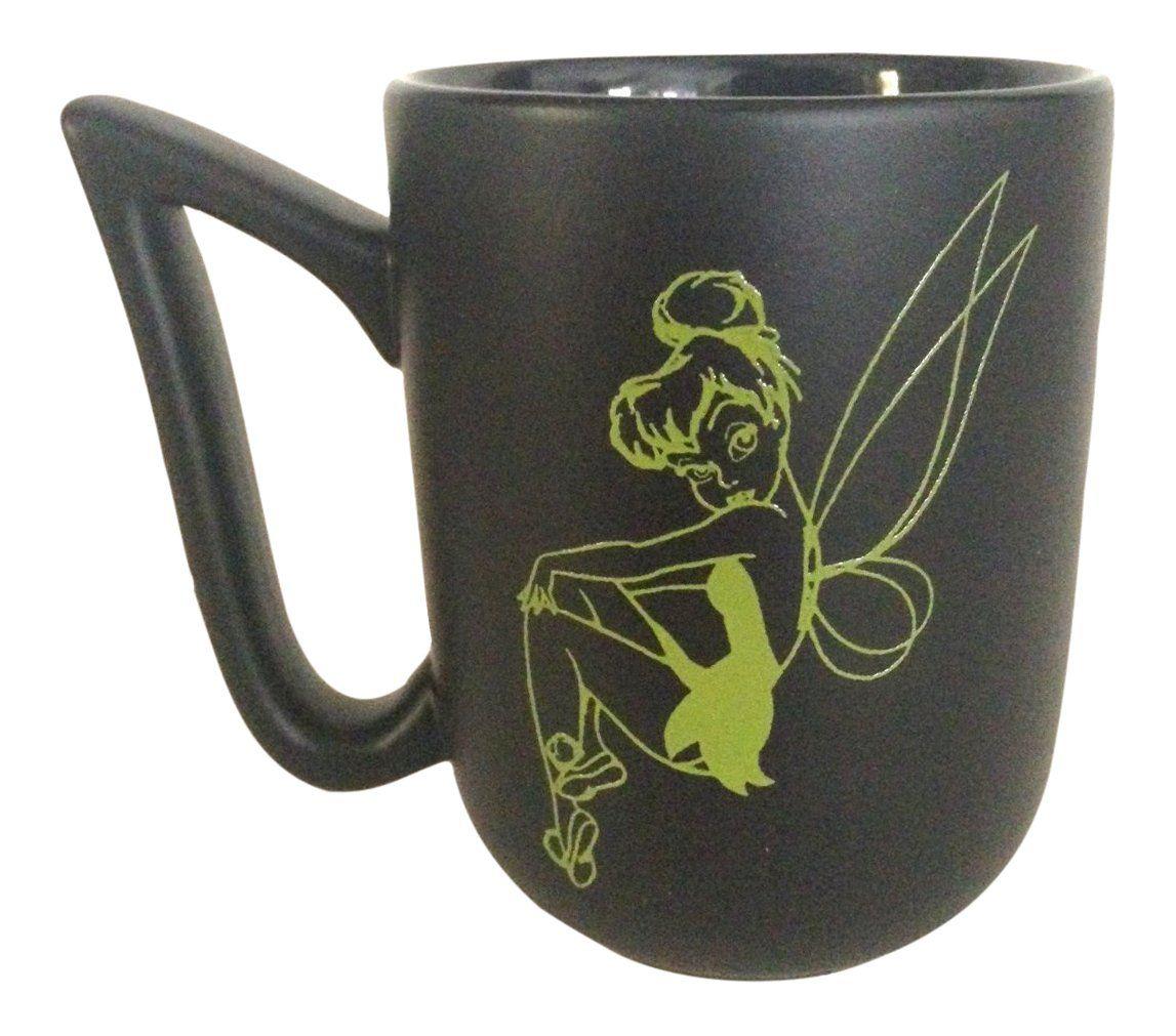 Tinker Bell Tinkerbell Little Green Dress Black Ceramic Mug - Disney Parks