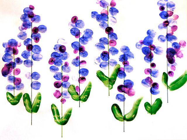 Fingerprint bluebonnets - sweet mom & toddler project