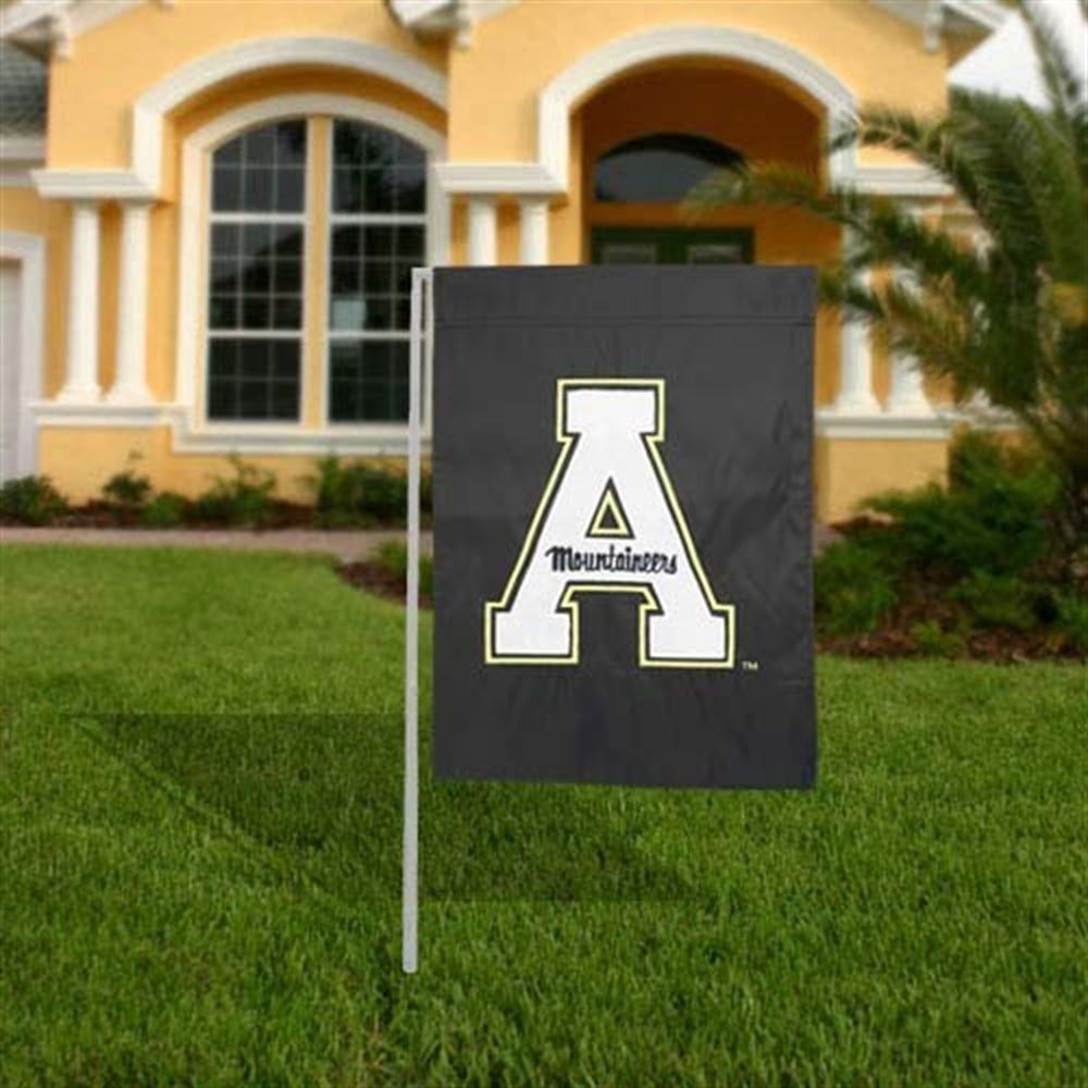 Appalachian State Mountaineers Black Applique Garden Flag