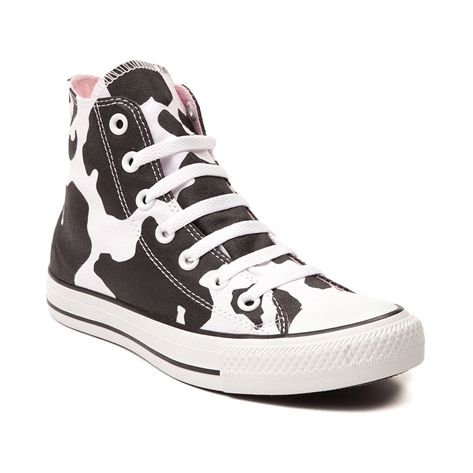Shop for Converse All Star Hi Cow Print Sneaker in Black ...