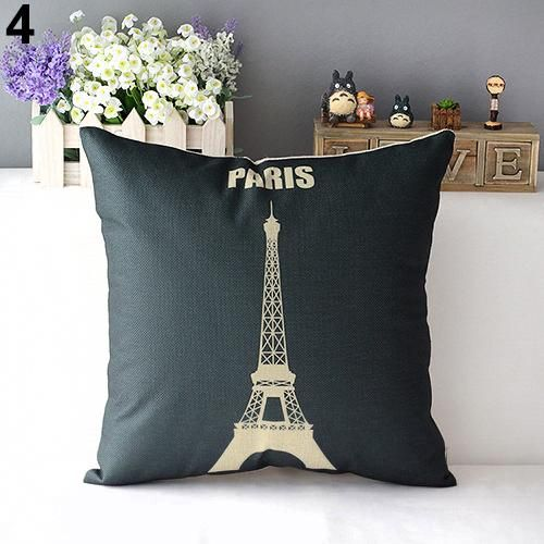 Photo of Retro Home Decorative Linen Cotton Blended Cushion Cover Crown Throw Pillow Case – as the picture g