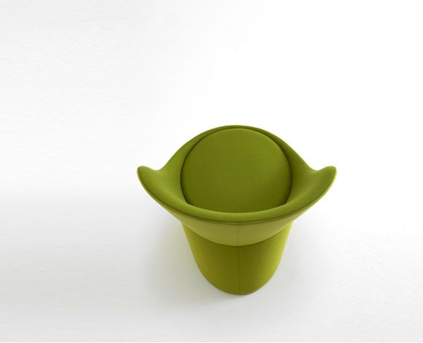 Eye Catching Green Fabric Didi Chair Top View By Busk