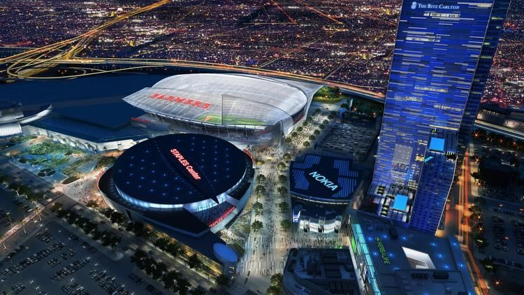 Chargers And Raiders Overhaul Design For Potential L A Stadium Nfl Stadiums Stadium Christian Business