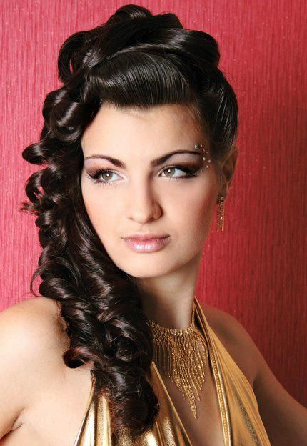 long hairstyles for indian women classic puffy curls