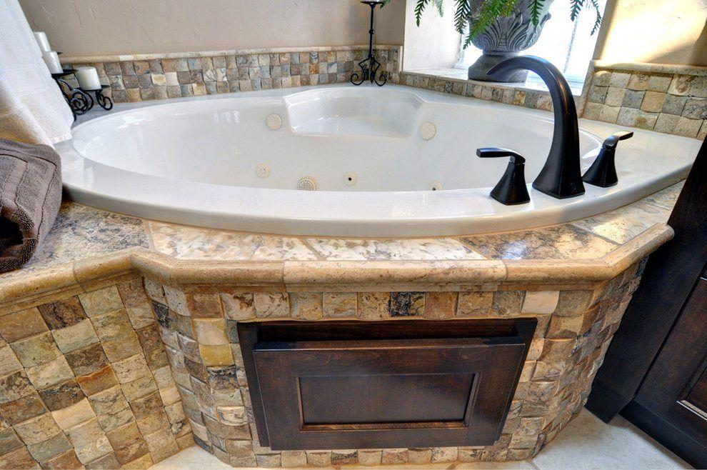 jacuzzi tub bathroom traditional with