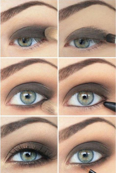 Smokey Eyes Für Blaue Augen In Graubraun Einfache Anleitung