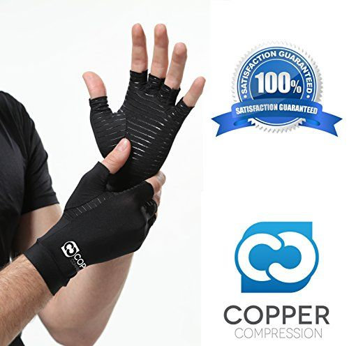 Copper Compression Arthritis Recovery Gloves Highest Copper