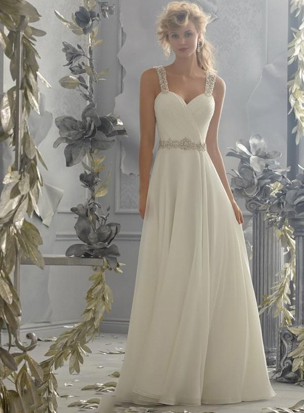 bridalup.com SUPPLIES Elegant A-Line Sweetheart Floor-Length Wedding Dress With Beading Elegant Wedding Dresses