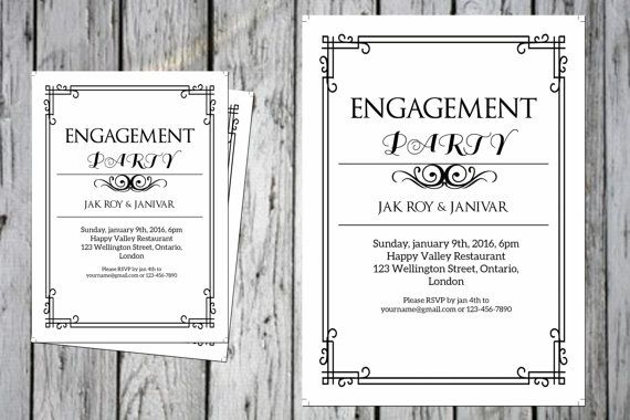 Engagement invitation Template DIY by WeddingTemplateStock #FREE