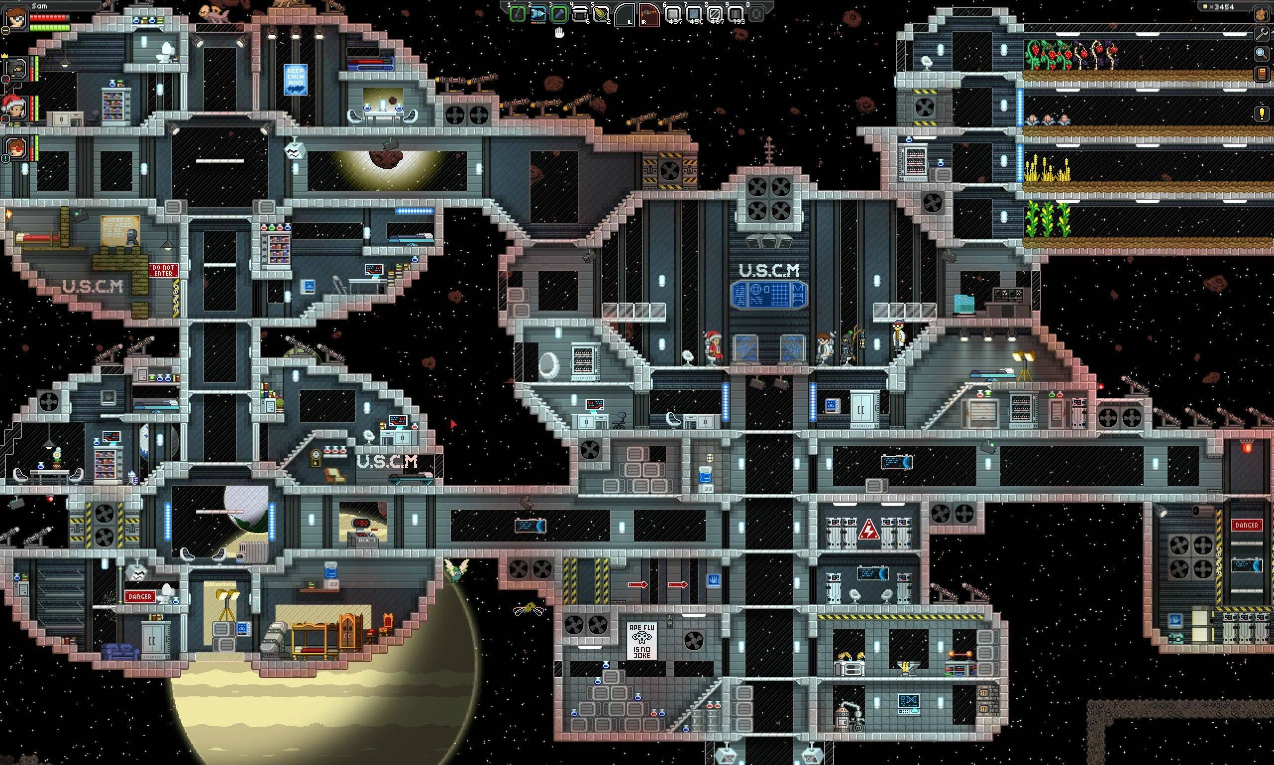 Starbound Huge Space Station via Reddit user Nize | Video