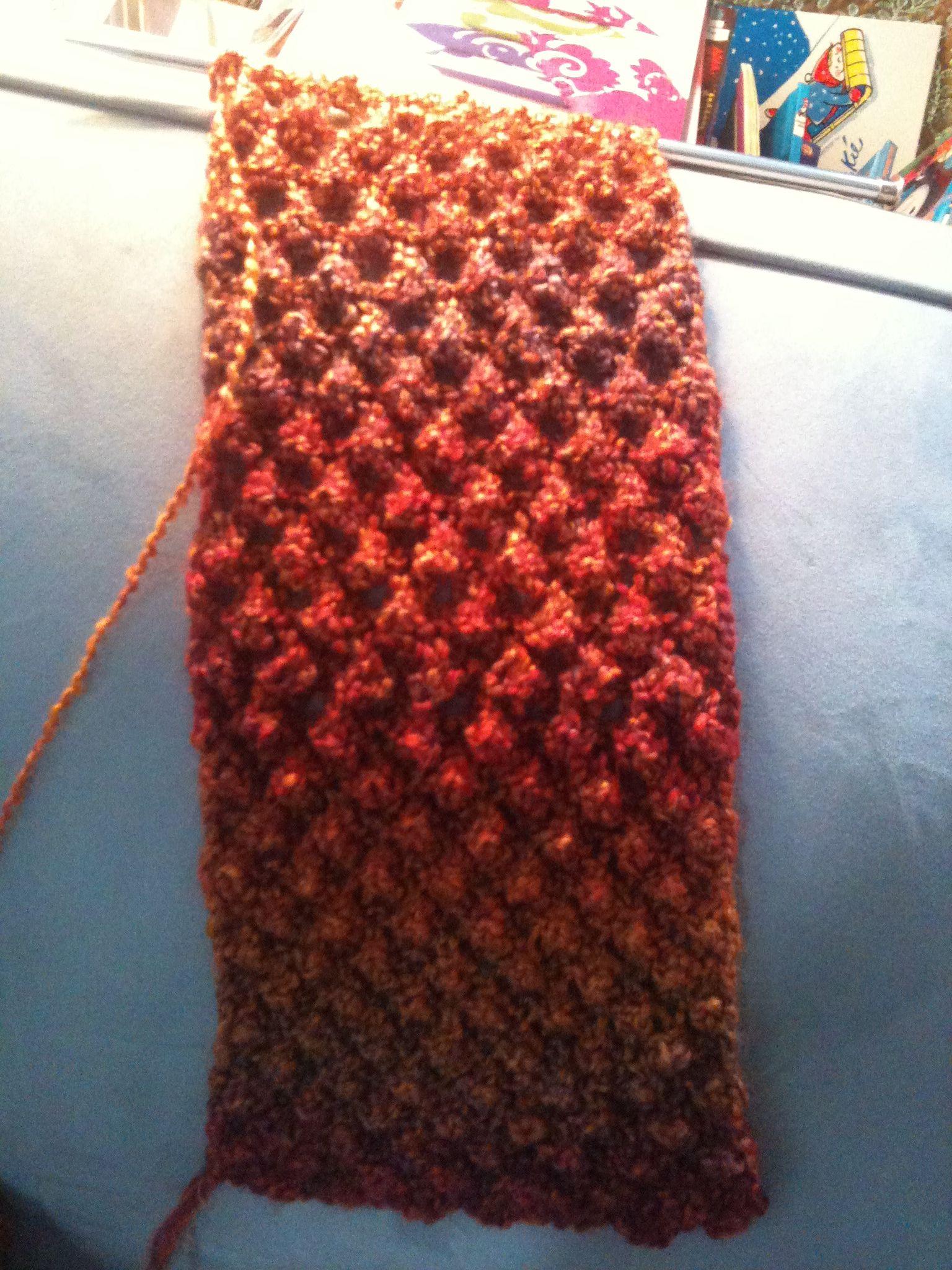 first raspberry stitch scarf Handwork Pinterest